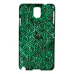 Hexagon1 Black Marble & Green Marble Samsung Galaxy Note 3 N9005 Hardshell Case by trendistuff
