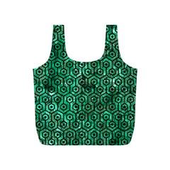 Hexagon1 Black Marble & Green Marble Full Print Recycle Bag (s) by trendistuff