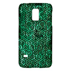 Hexagon1 Black Marble & Green Marble Samsung Galaxy S5 Mini Hardshell Case  by trendistuff