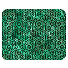 Hexagon1 Black Marble & Green Marble Double Sided Flano Blanket (medium) by trendistuff