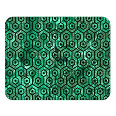 Hexagon1 Black Marble & Green Marble Double Sided Flano Blanket (large) by trendistuff