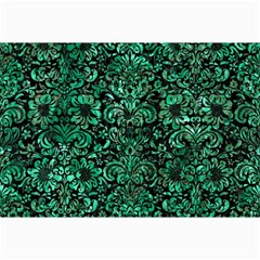 Damask2 Black Marble & Green Marble (r) Collage 12  X 18  by trendistuff