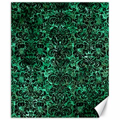 Damask2 Black Marble & Green Marble Canvas 20  X 24  by trendistuff