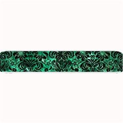 Damask2 Black Marble & Green Marble Small Bar Mat