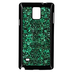 Damask2 Black Marble & Green Marble Samsung Galaxy Note 4 Case (black) by trendistuff