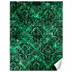 Damask1 Black Marble & Green Marble (r) Canvas 36  X 48  by trendistuff