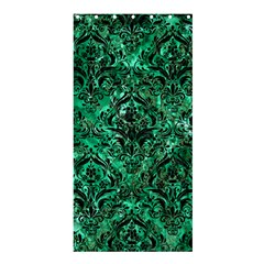 Damask1 Black Marble & Green Marble (r) Shower Curtain 36  X 72  (stall) by trendistuff
