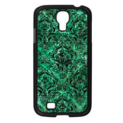 Damask1 Black Marble & Green Marble (r) Samsung Galaxy S4 I9500/ I9505 Case (black) by trendistuff
