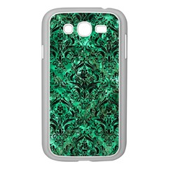 Damask1 Black Marble & Green Marble (r) Samsung Galaxy Grand Duos I9082 Case (white) by trendistuff