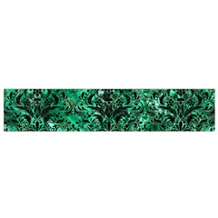 Damask1 Black Marble & Green Marble (r) Flano Scarf (small)