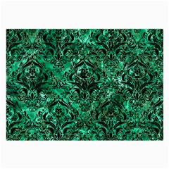 Damask1 Black Marble & Green Marble Large Glasses Cloth by trendistuff