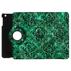 Damask1 Black Marble & Green Marble Apple Ipad Mini Flip 360 Case by trendistuff