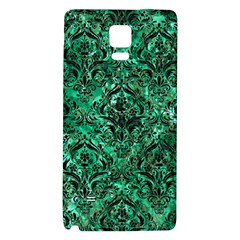 Damask1 Black Marble & Green Marble Samsung Note 4 Hardshell Back Case by trendistuff