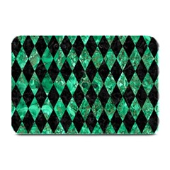 Diamond1 Black Marble & Green Marble Plate Mat by trendistuff