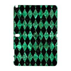 Diamond1 Black Marble & Green Marble Samsung Galaxy Note 10 1 (p600) Hardshell Case by trendistuff