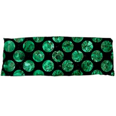 Circles2 Black Marble & Green Marble (r) Body Pillow Case (dakimakura)