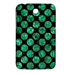 Circles2 Black Marble & Green Marble (r) Samsung Galaxy Tab 3 (7 ) P3200 Hardshell Case  by trendistuff