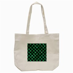 Circles2 Black Marble & Green Marble Tote Bag (cream) by trendistuff