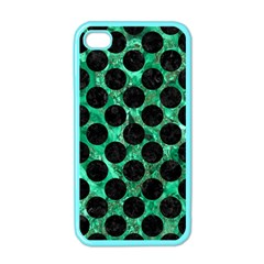 Circles2 Black Marble & Green Marble Apple Iphone 4 Case (color) by trendistuff