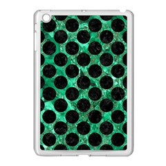 Circles2 Black Marble & Green Marble Apple Ipad Mini Case (white) by trendistuff