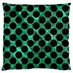 Circles2 Black Marble & Green Marble Standard Flano Cushion Case (one Side) by trendistuff
