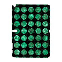 Circles1 Black Marble & Green Marble (r) Samsung Galaxy Note 10 1 (p600) Hardshell Case by trendistuff