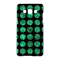 Circles1 Black Marble & Green Marble (r) Samsung Galaxy A5 Hardshell Case  by trendistuff