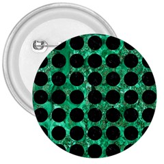 Circles1 Black Marble & Green Marble 3  Button by trendistuff
