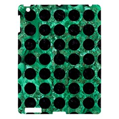 Circles1 Black Marble & Green Marble Apple Ipad 3/4 Hardshell Case by trendistuff