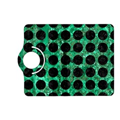 Circles1 Black Marble & Green Marble Kindle Fire Hd (2013) Flip 360 Case by trendistuff