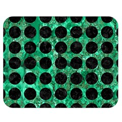 Circles1 Black Marble & Green Marble Double Sided Flano Blanket (medium) by trendistuff