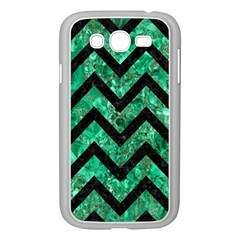 Chevron9 Black Marble & Green Marble (r) Samsung Galaxy Grand Duos I9082 Case (white) by trendistuff