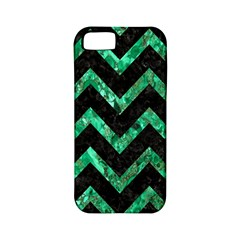 Chevron9 Black Marble & Green Marble Apple Iphone 5 Classic Hardshell Case (pc+silicone) by trendistuff