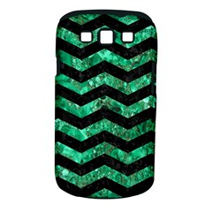 Chevron3 Black Marble & Green Marble Samsung Galaxy S Iii Classic Hardshell Case (pc+silicone) by trendistuff