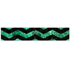Chevron3 Black Marble & Green Marble Flano Scarf (large) by trendistuff