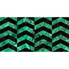 Chevron2 Black Marble & Green Marble You Are Invited 3d Greeting Card (8x4) by trendistuff