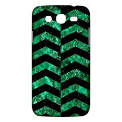 Chevron2 Black Marble & Green Marble Samsung Galaxy Mega 5 8 I9152 Hardshell Case  by trendistuff