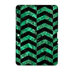 Chevron2 Black Marble & Green Marble Samsung Galaxy Tab 2 (10 1 ) P5100 Hardshell Case  by trendistuff