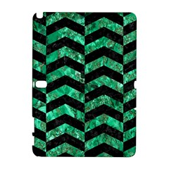 Chevron2 Black Marble & Green Marble Samsung Galaxy Note 10 1 (p600) Hardshell Case