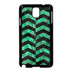 Chevron2 Black Marble & Green Marble Samsung Galaxy Note 3 Neo Hardshell Case (black)