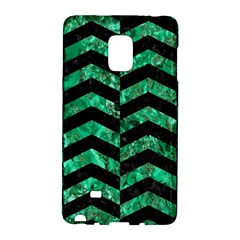 Chevron2 Black Marble & Green Marble Samsung Galaxy Note Edge Hardshell Case by trendistuff