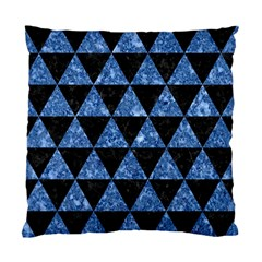Triangle3 Black Marble & Blue Marble Standard Cushion Case (two Sides) by trendistuff