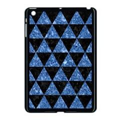 Triangle3 Black Marble & Blue Marble Apple Ipad Mini Case (black) by trendistuff