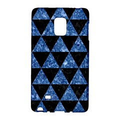Triangle3 Black Marble & Blue Marble Samsung Galaxy Note Edge Hardshell Case by trendistuff