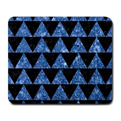 Triangle2 Black Marble & Blue Marble Large Mousepad by trendistuff