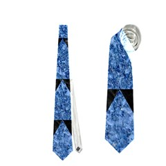 Triangle2 Black Marble & Blue Marble Necktie (two Side) by trendistuff