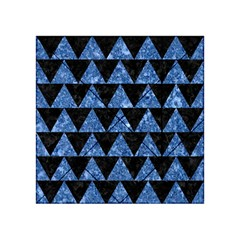 Triangle2 Black Marble & Blue Marble Acrylic Tangram Puzzle (4  X 4 ) by trendistuff