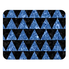 Triangle2 Black Marble & Blue Marble Double Sided Flano Blanket (large) by trendistuff