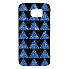 Triangle2 Black Marble & Blue Marble Samsung Galaxy S6 Hardshell Case  by trendistuff