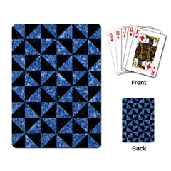 Triangle1 Black Marble & Blue Marble Playing Cards Single Design by trendistuff